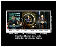 COMMEMORATIVE PRESIDENT OBAMA VISIT PHOTO TRIPTYCH