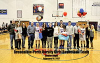 02102017: B-P GIRLS BASKETBALL SENIOR NIGHT